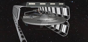 USS VENTURE.. Repairs At Delta Aquilae In 2375