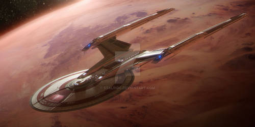 ISS MARAUDER In Orbit Of A Demon Class Planet by StalinDC