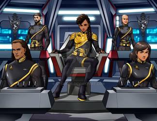 ISS MARAUDER..Captain Black And Bridge Crew 2255 by StalinDC