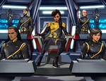 ISS MARAUDER..Captain Black And Bridge Crew 2255 by StalinDC