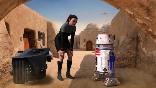 Lt. Kina Deir And The R5 Droid.. Well Hello!