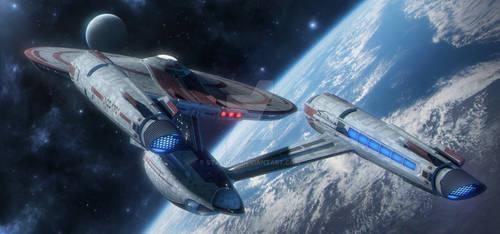 Terran Civil War..ISS ENTERPRISE At Alpha Centauri