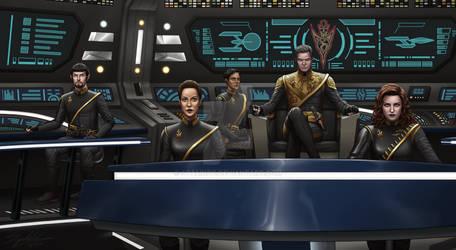 Terran Civil War.. Captain Pike On The Bridge!