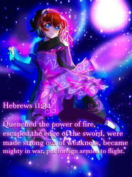 Hebrews 11:34 by SarahMyriaCarter