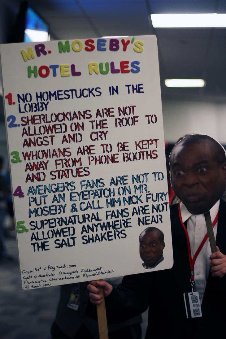 Mr Moseby's Hotel Rules by geekypandaphotobox