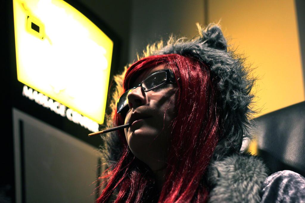 Like a Boss Wolf Girl by geekypandaphotobox