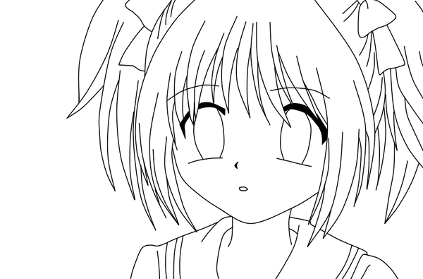 Anime School Girl Uniform Coloring Pages Anime School Coloring Pages