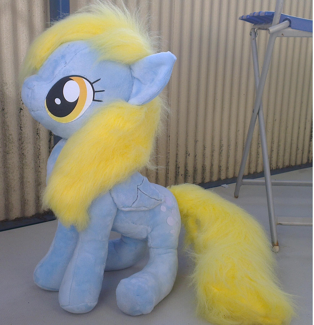 Derpy hooves normal eyes large plush! by Epicrainbowcrafts