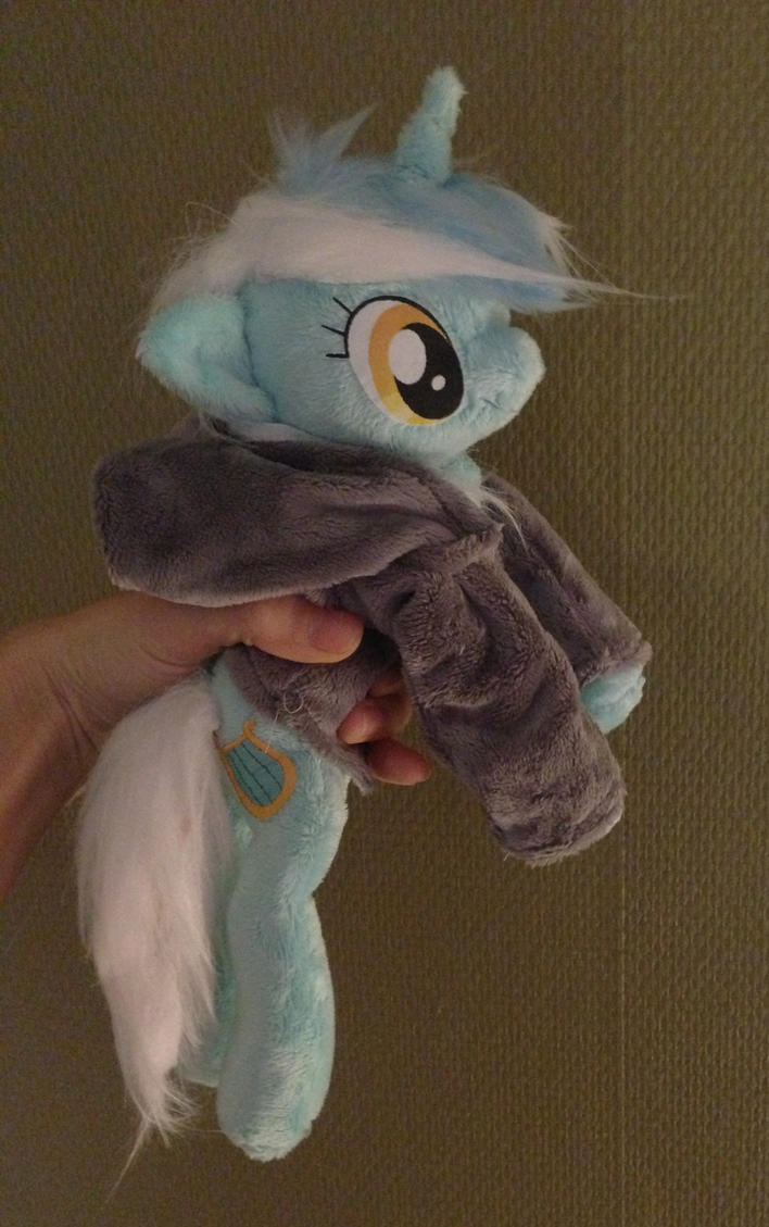 handheld beanie lyra with hoodie mlp plush by Epicrainbowcrafts