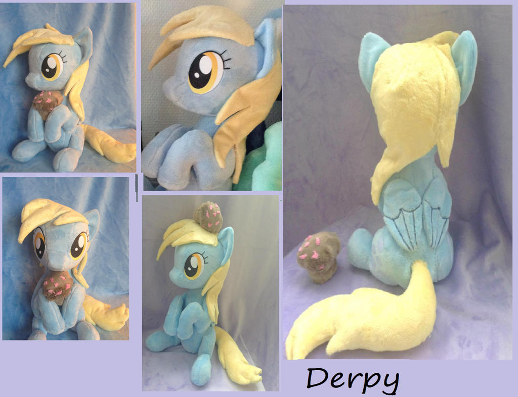 Derpy with muffin sitting *multipic* by Epicrainbowcrafts