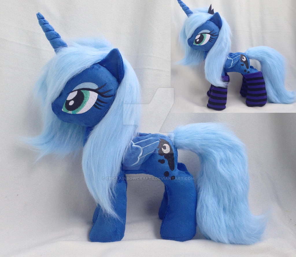 Talking  Luna 20 inch plush in socks