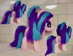 Aria Blaze pony version w faux fur