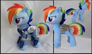 Rainbow Dash crystal wars warrior