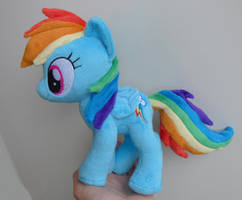 Small Dashie beanie plush by Epicrainbowcrafts