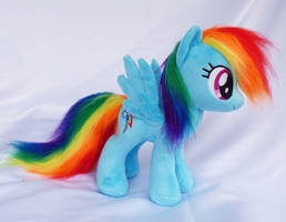 Rainbow Dash small plush faux fur by Epicrainbowcrafts