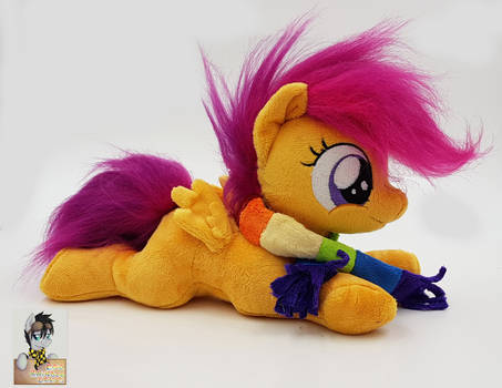 Beanie Scootaloo with Rainbow Dash scarf