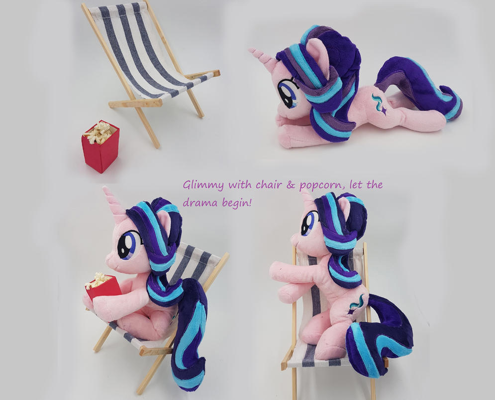 starlight glimmer with popcorn and chair by epicrainbowcrafts on