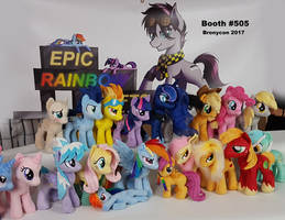 Bronycon 2017 plushie stock - thus far! by Epicrainbowcrafts