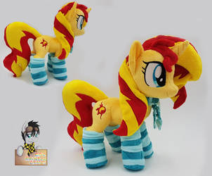 Sunset Shimmer  plushie with scarf and socks by Epicrainbowcrafts