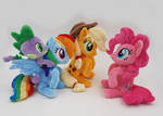 Dash , pinkie , AJ and spike mini beanies