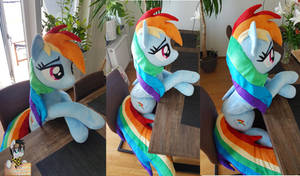 <b>Lifesize Rainbow Dash  50 Inches / 130cm Long!</b><br><i>Epicrainbowcrafts</i>