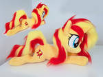 Sunset Shimmer large with faux fur mane