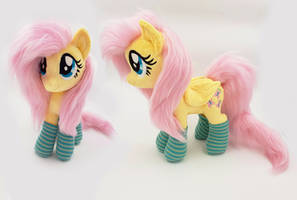 Fluttershy small plush with faux fur by Epicrainbowcrafts