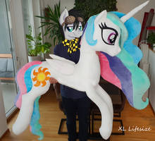 XL Lifesize Princess Celestia 70 inches / 175 cm by Epicrainbowcrafts