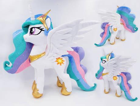 Princess Celestia handmade plushie 14 inches