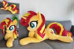 Cuddle size Sunset shimmer plushie