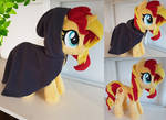 The hooded mare - Sunset shimmer small plushie