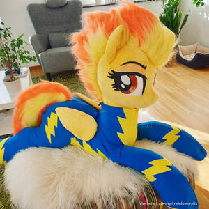Lifesize Spitfire in wonderbolt suit