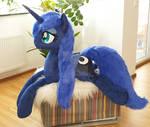 Princess Luna ver 2 - Lifesize plushie w faux fur