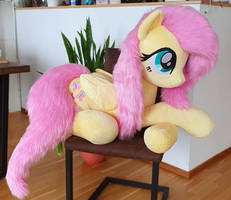 Fluttershy Lifesize with faux fur mane and tail