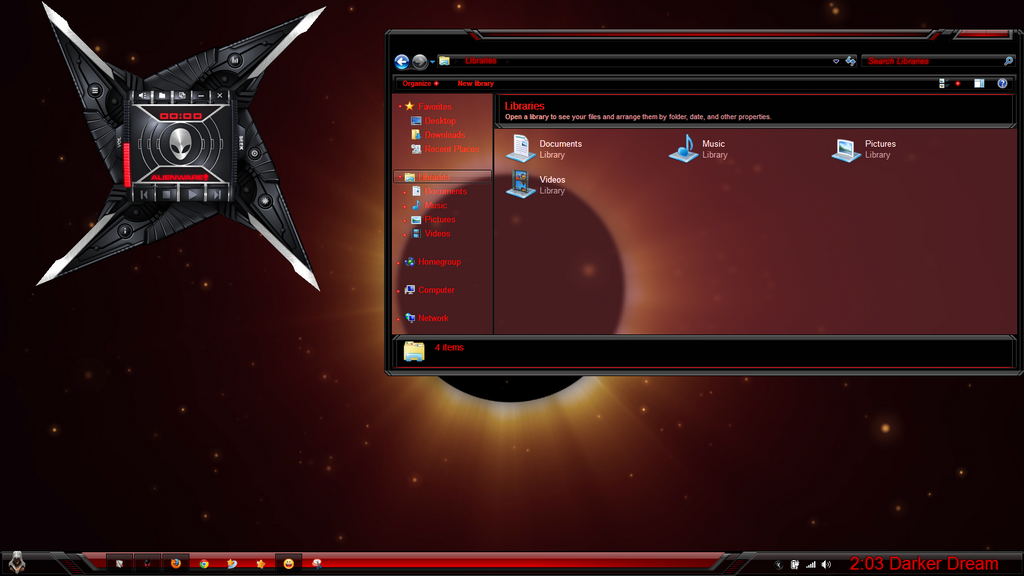 Awesome red alienware windows 7 skin theme link by anzonyd on awesome red alienware windows 7 skin theme link by anzonyd voltagebd Choice Image