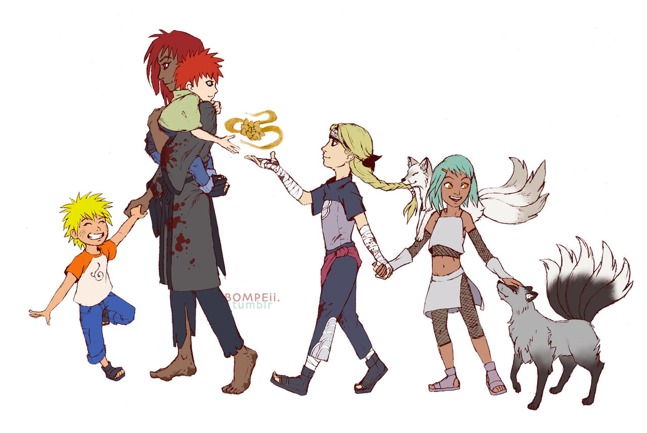 Jinchuuriki Family - Reverse by bompeii on DeviantArt