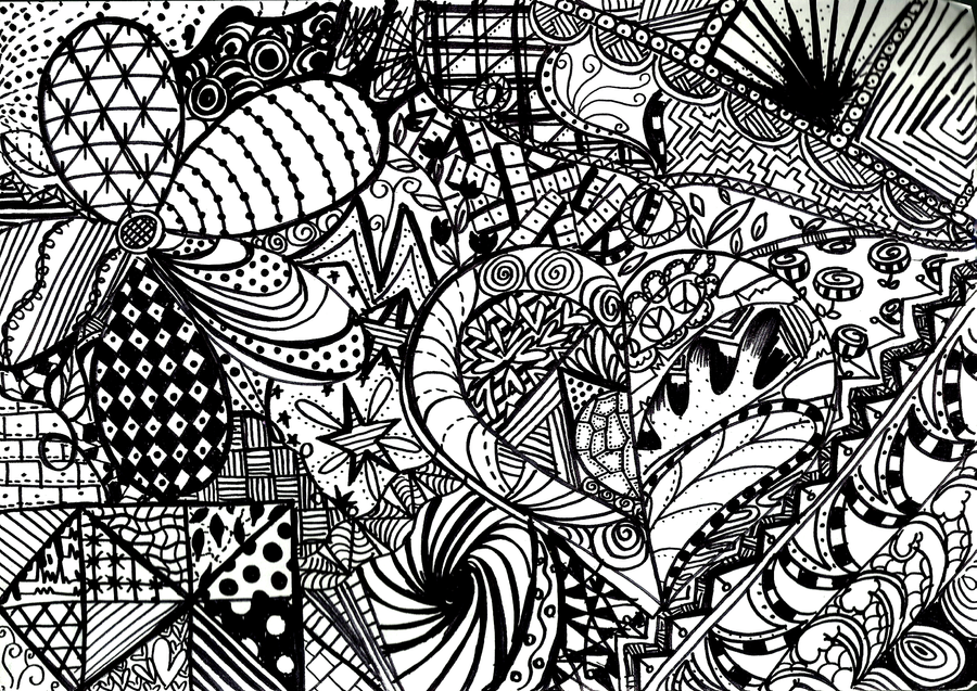 Abstract Coloring Pages Doodle Art Alley Images - Frompo