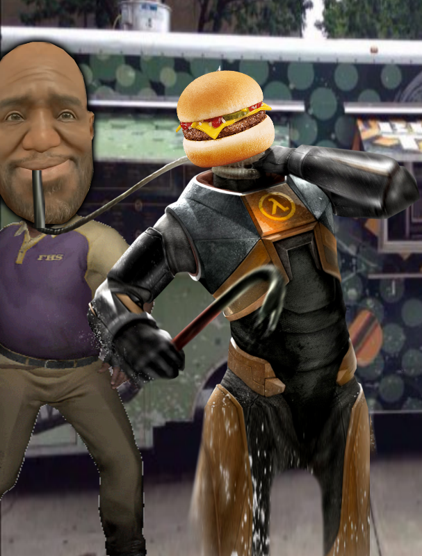Coach loves his cheeseburgers. by epicponysparkle1456