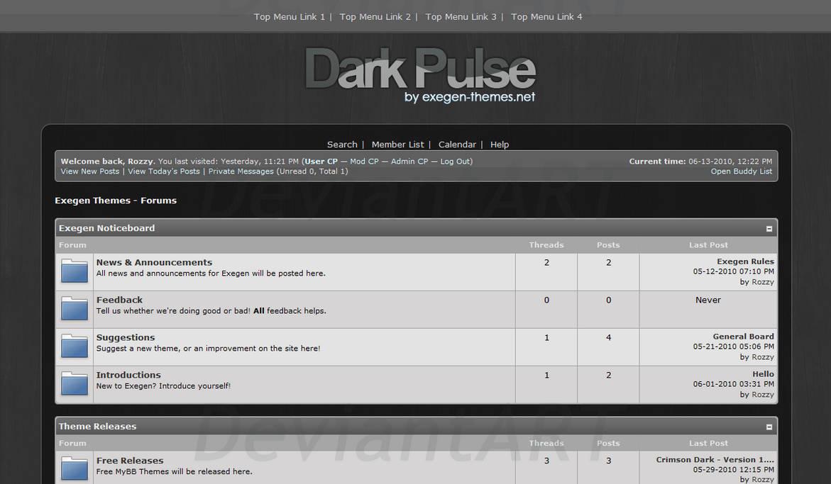 Dark Pulse - MyBB Theme by rozzy-mate on DeviantArt