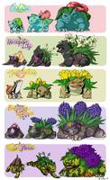 Bulbasaur Family Variants