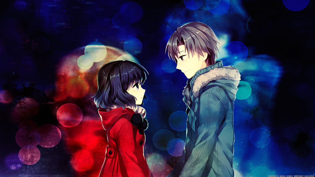 Hd Wallpaper Love couple Animated : Anime couple Wallpaper by konaruhii on DeviantArt
