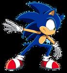hey look I drew Sonic