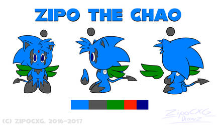 Zipo the Chao Reference sheet (2016-2017) by Zipo-Chan