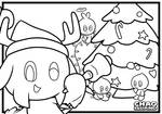 Chao Island Christmas Colouring Sheet by Zipo-Chan