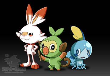 Starters of Galar by Zipo-Chan