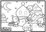 Chao Island Christmas Colouring Sheet (2019) by Zipo-Chan