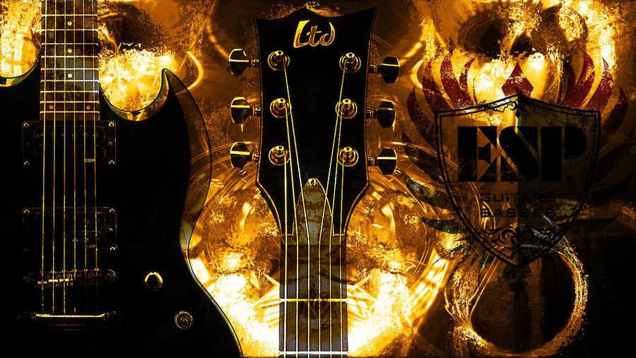 Esp Guitar Wallpaper By Aattkc On Deviantart