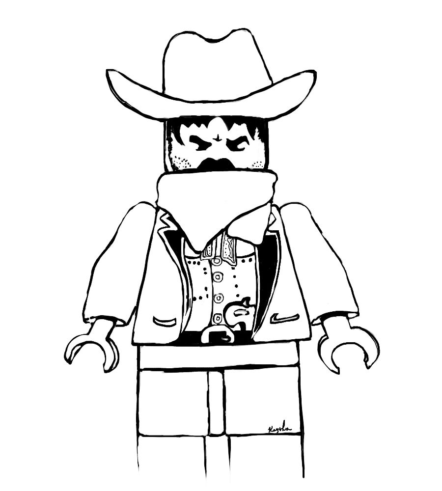 Western Lego coloring page by KoahKay on DeviantArt