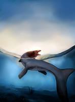 Mosasaurus by LuckyLemontina