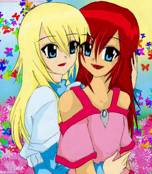 Namine And Kairi_BFF?or More? By Kingdom-Hearts-Yuri On